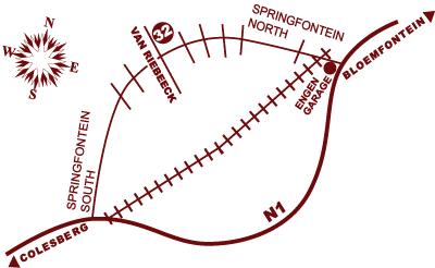 springfontein map